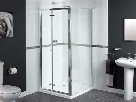 Shower Doors 900mm Aqualux Shine Bifold Shower Door 900mm Polished Silver Fen0900aqu