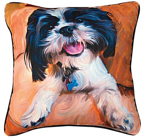 shih tzu pillow shih tzu artistic throw pillow 18x18 quot