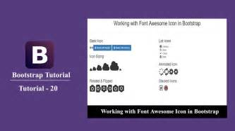 bootstrap tutorial in urdu youtube bootstrap tutorial 20 how to use font awesome icons in