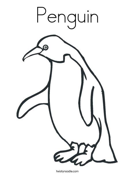 P For Penguin Coloring Page by Penguin Coloring Page Twisty Noodle