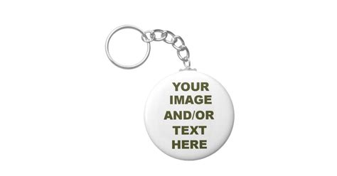 design your own keyring keychain zazzle