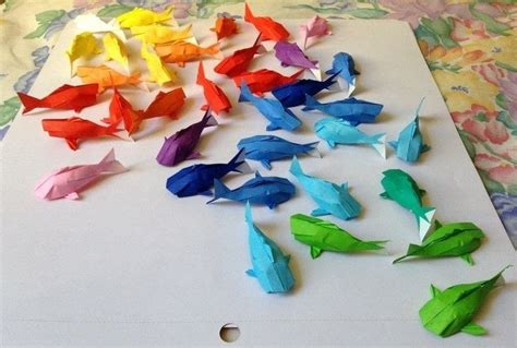 new year koi fish origami rainbow koi 183 an origami fish 183 papercraft on cut out