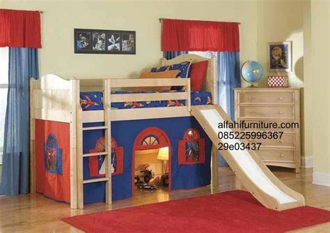 Daftar Ranjang Kayu Tingkat jual tempat tidur anak seluncuran harga murah jepara oleh alfahi furniture