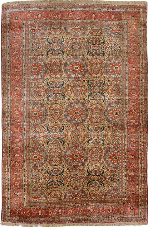 Antique Silk Heriz Serapi Persian Rugs 3087 Nazmiyal Antique Rugs Prices