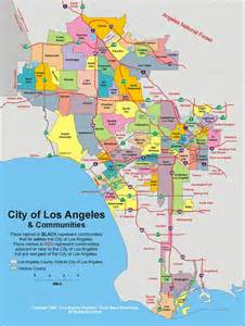 los angeles on california map can someone explain las southern city limits