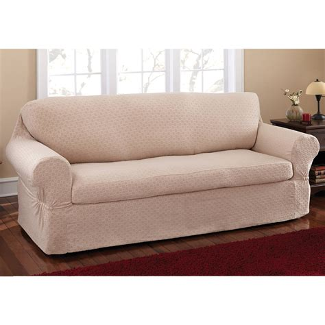 2 piece sofa slipcover mainstays conrad 2 piece sofa slipcover ebay
