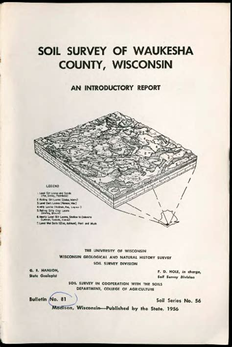 Waukesha County Search Wisconsin Geological History Survey 187 Soil Survey Of Waukesha County