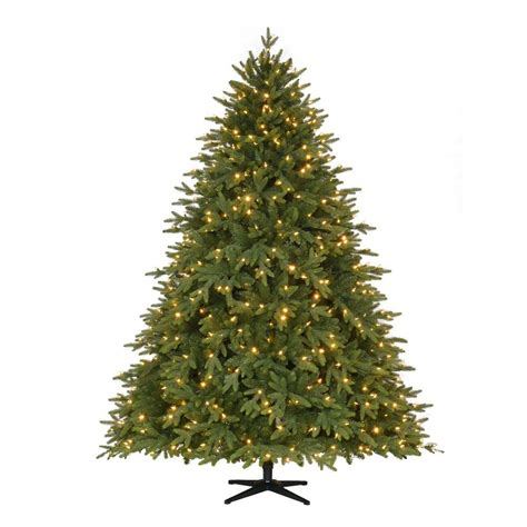 home accents 7 5 ft pre lit led monterey fir artificial tree with 650 color