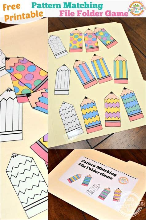 pattern matching games online pattern matching free printable file folder game for