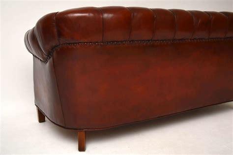 Sofa Leather Antik antikes swedish leather chesterfield sofa