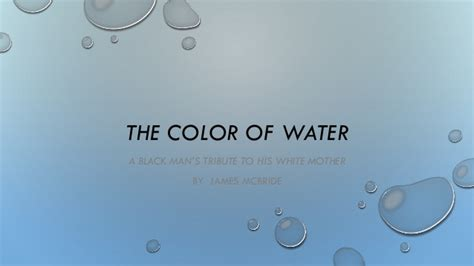 the color of water by mcbride the color of water