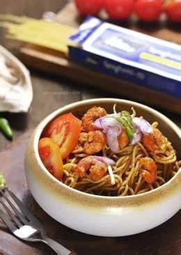 resep mie spaghetti enak  sederhana cookpad