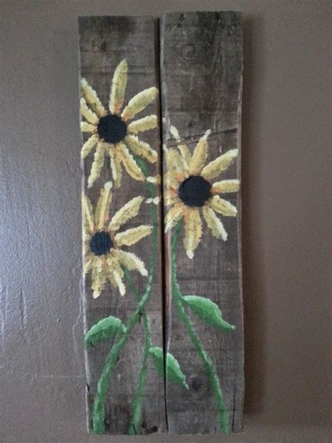 acrylic paint on wood ideas sunflowers woods and acrylic paintings on