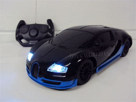 toy bugatti bugatti veyron radio remote control car led lights 1 18