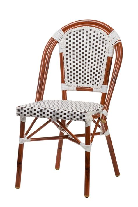 Aluminum Bistro Chairs Aluminum Bamboo Look Bistro Chair Stackable Chairs Chairs Direct Seating
