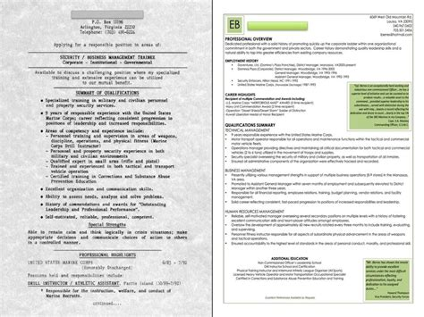 veteran before and after sle resume jpg from legz resume dezign studio in