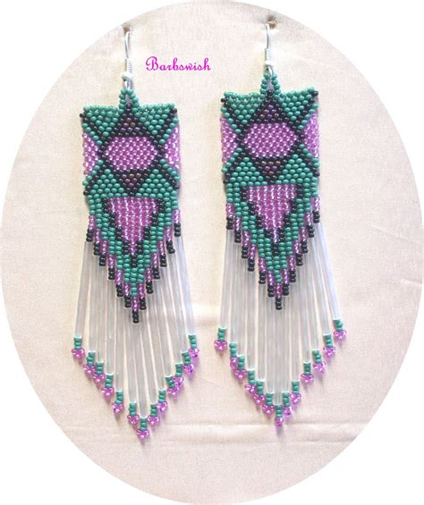 beaded earring patterns american pattern seed bead earrings