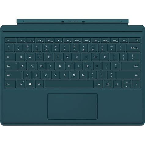 windows surface type cover microsoft surface pro 4 type cover teal qc7 00006 b h photo