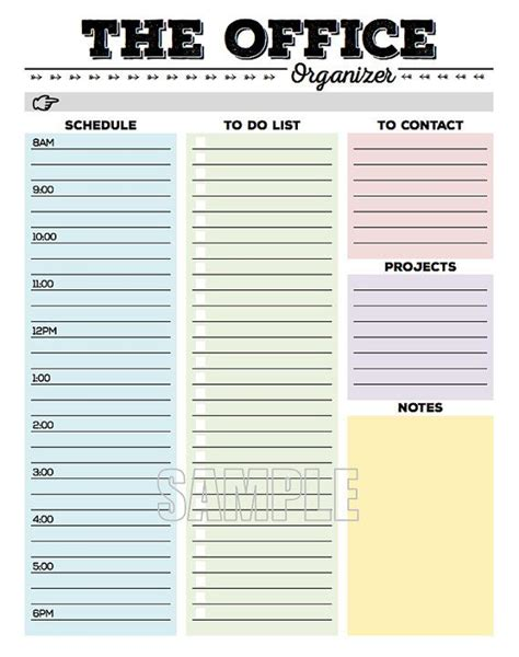printable to do list software the office organizer planner page work planner office