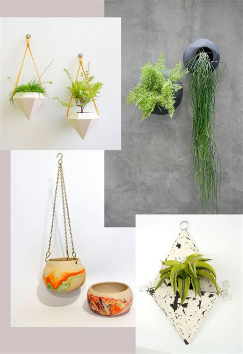 modern hanging planters modern boho shabby chic and contemporary hanging