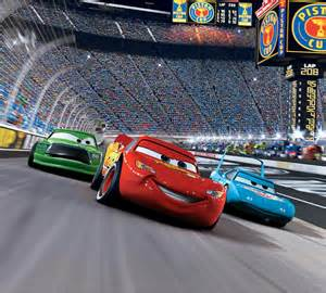 Lightning Car Race Blue Mountain Wallpaper Cars Race Track Mini Mural