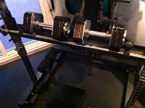 homemade decline bench decline dumbbell press on ironmaster bench solution