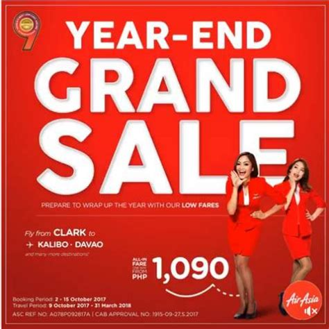 air asia year  grand sale  october  march