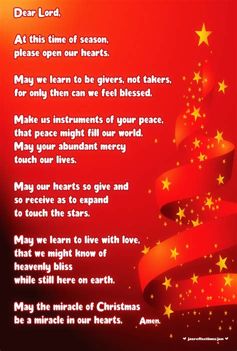 christmas invocation prayer poems jasreflections