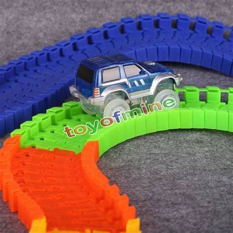 light up race track as seen on tv magic tracks glow in the led light up race car bend