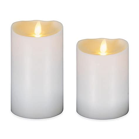 luminara candele luminara 174 flameless outdoor candle in ivory bed bath