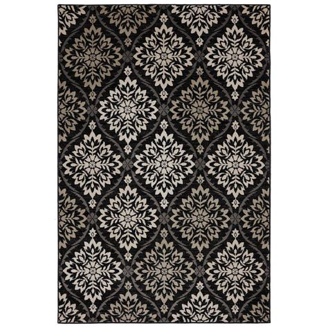 mohawk suzani rug mohawk home suzani black 8 ft x 10 ft area rug 415068 the home depot