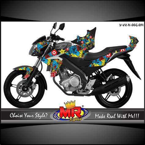 Stripingstiker Yamaha New Vixion Fox vixion new pop fox vs rockstar stiker motor striping motor suka suka decal motor mr