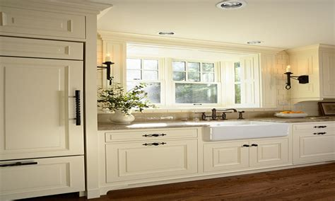 kitchen sink hardware, Off White Kitchen Cabinets Creamy