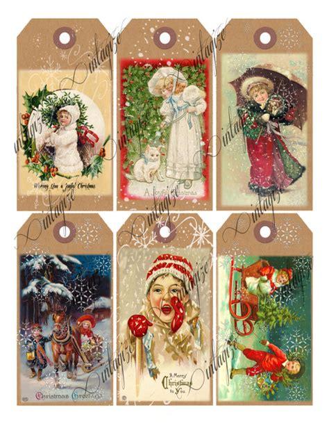 printable victorian christmas tags items similar to digital christmas tags printable vintage