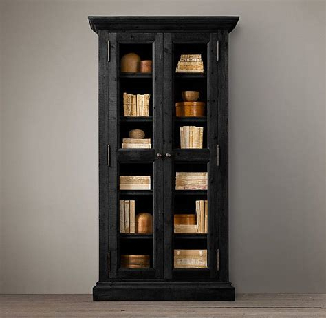 Salvaged Wood Glass Door Cabinet Wood Shelving Salvaged Glass Doors