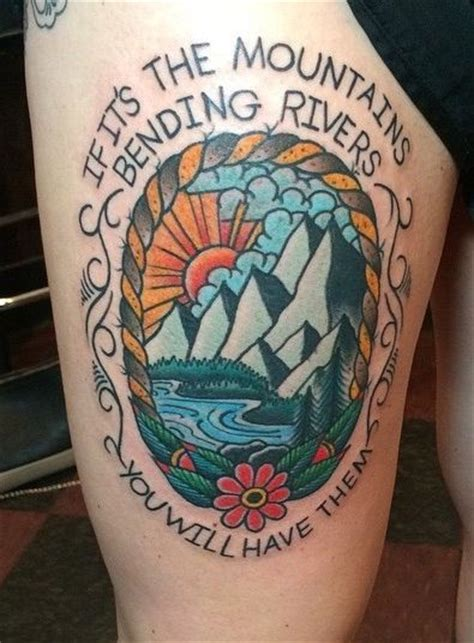 avett brothers tattoo best 25 traditional mountain ideas on