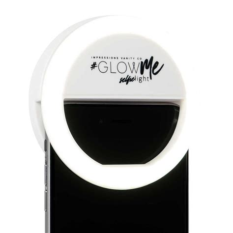 Led Selfie impressions vanity co glowme led selfie ring light for smartphones in black pink and white