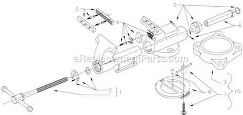 bench vise parts list wilton c 3 parts list and diagram after 1984