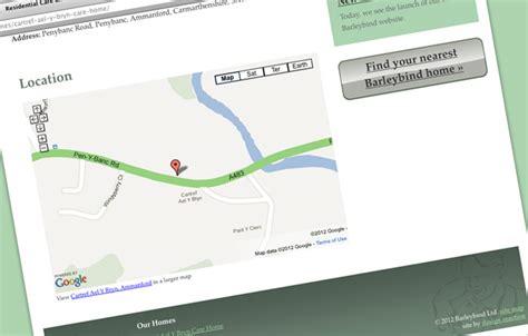 barleybind care homes new website design