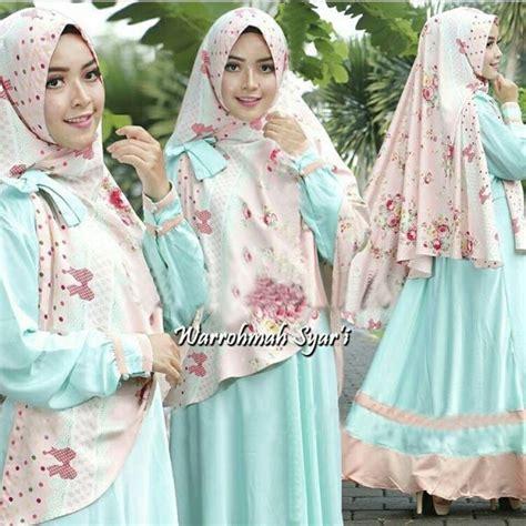 Gamis Busui baju gamis syari busui setelan jilbab bergo modis modern