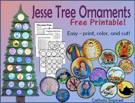 printable jesse tree ornaments free printable jesse tree ornaments free and easy