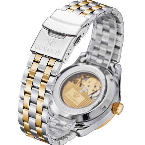 Jam Tangan Ouyawei Stainless Automatic Oyw1339 Whitesilver Ouyawei Luxury Stainless Steel Automatic Mechanical