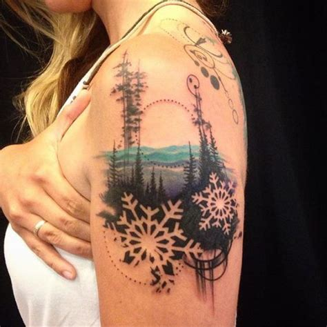 landscape tattoos 45 inspiring winter designs ideas entertainmentmesh