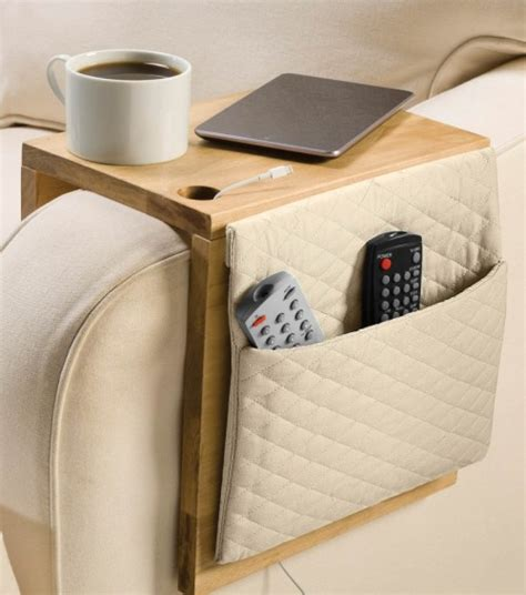 sofa caddy organizer creative storage 8 diy sofa caddies and holders shelterness