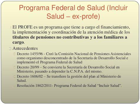 discapacidad y salud programa federal de salud profe sistemas y pol 237 ticas de salud en argentina an 225 lisis del
