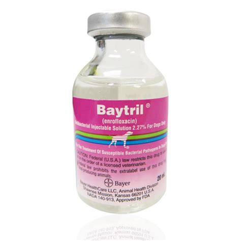 enrofloxacin for dogs buy baytril injectable solution 2 27 20 ml for dogs