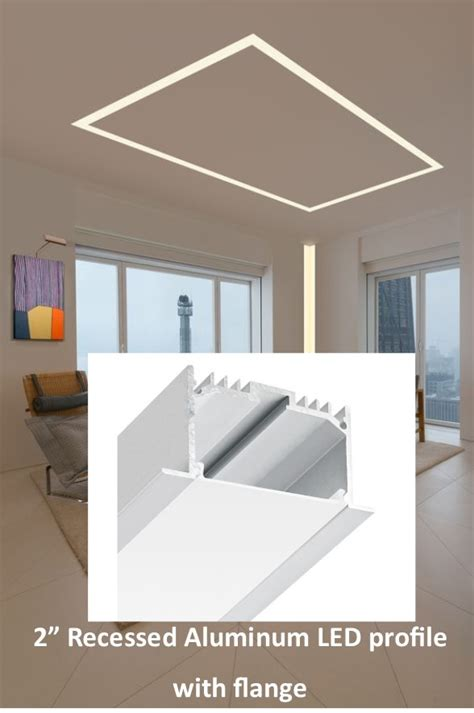 Lichtkanal Decke by Bn120262 2 Inch Recessed Aluminum Led Profile With Flange