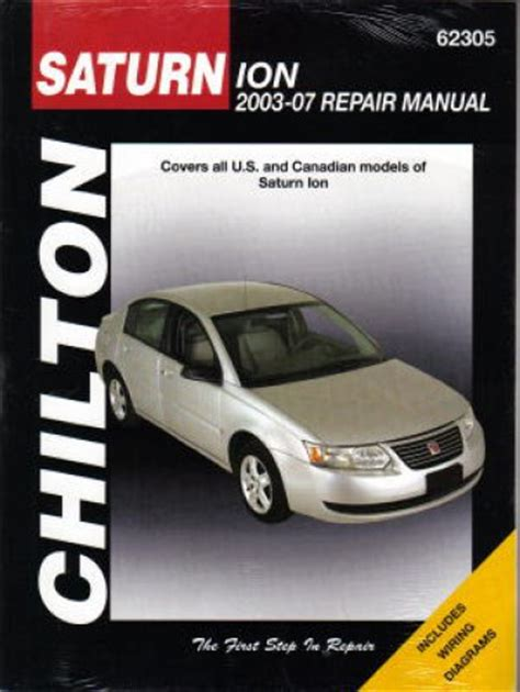 car repair manuals download 2007 saturn ion security system 2003 2007 chilton saturn ion automotive repair manual