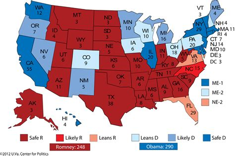 map of us electoral votes larry j sabato s 187 2012 president