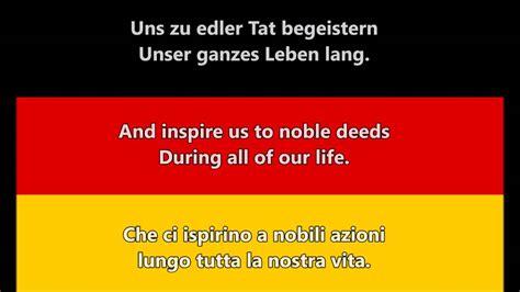 inno tedesco testo inno nazionale di germania deutsche nationalhymne de en